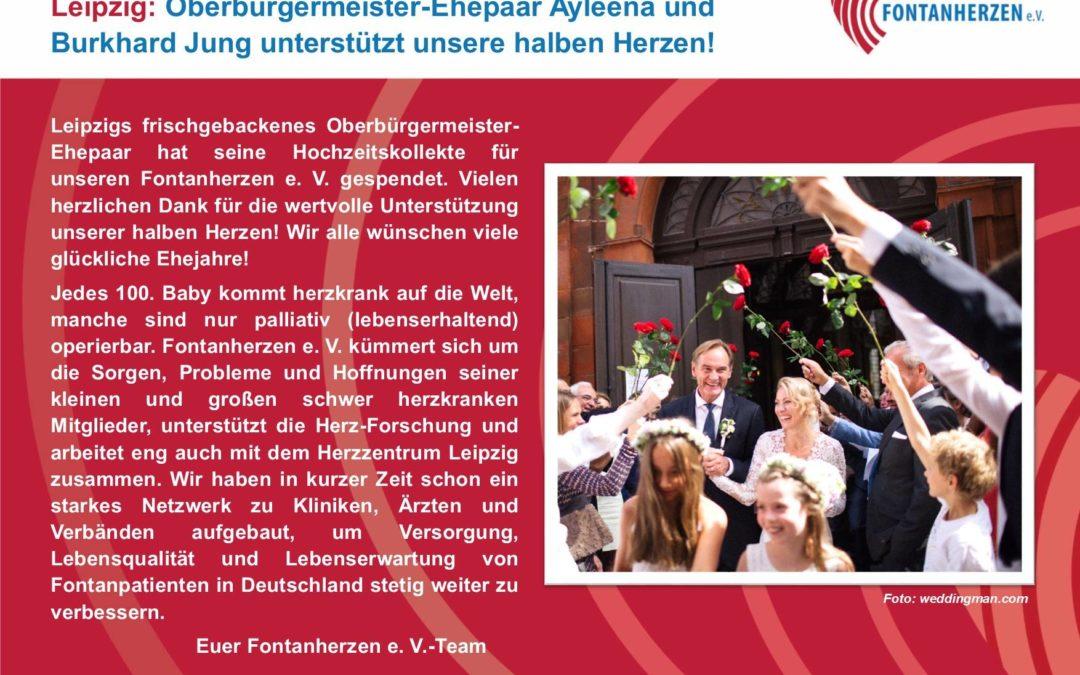 Oberbürgermeister-Ehepaar Ayleena und Burkhard Jung unterstützt unsere halben Herzen!