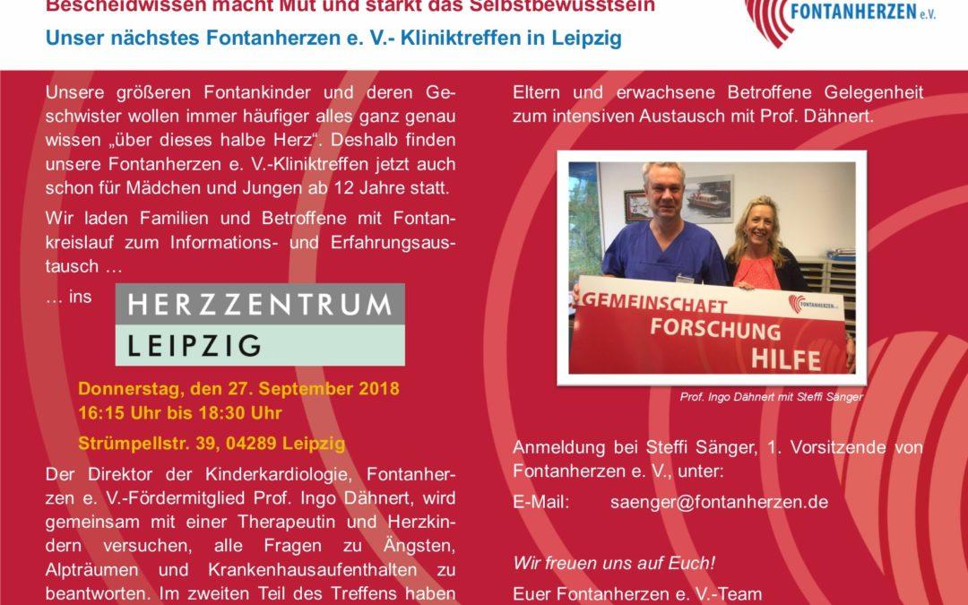 Einladung Kliniktreffen Leipzig 27.09.2018