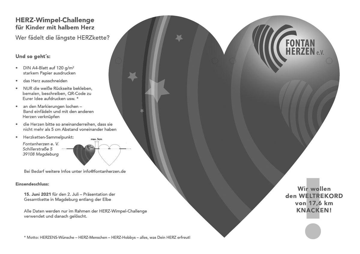 Herz-Wimpel-Vorlage für Sternenkinder